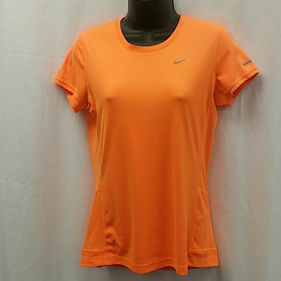 Nike Tops - Nike Running  Dri-Fit orange shirt small